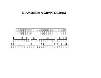 DAIMONDS: A CRYPTOGRAM
