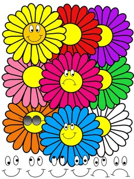 DAISY CLIP ART * COLOR AND BLACK AND WHITE