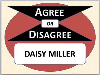 DAISY MILLER - Agree or Disagree Pre-reading Activity