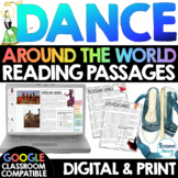 DANCE Around the World Reading Passages   Distance Learning Google Classroom
