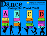 DANCE Complete Word Wall