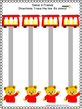 DANIEL TIGER & FRIENDS Cat Owl Fine motor pre-writing skills prek123 OT SPED