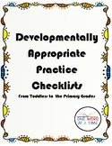 DAP Checklists: Toddler to Primary Grades