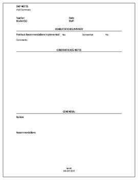 DAP Consultation Notes