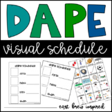 DAPE Task List Schedule and Visual Activity Cards