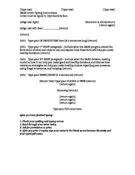 DARE Essay instructions