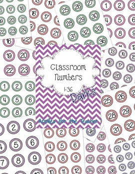 DARK Classroom Numbers 1-36