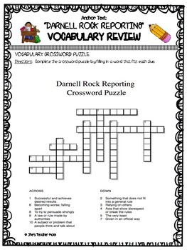 DARNELL ROCK REPORTING: Fifth Grade (Journey's Vocabulary Supplement)
