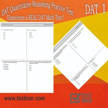 DAT Quantitative Reasoning Practice Test - 1