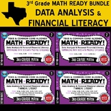 DATA ANALYSIS/FINANCIAL LITERACY BUNDLE ~ MATH READY 3rd Grade – 4 Sets