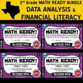 DATA ANALYSIS/FINANCIAL LITERACY BUNDLE ~ MATH READY 3rd Grade – 4 Sets