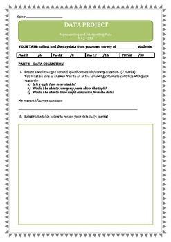 DATA & GRAPHING ASSESSMENT (Australian National Curriculum)