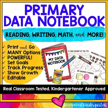 DATA NOTEBOOK for KINDERGARTEN or PRIMARY CLASSROOMS