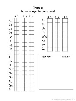 DATA TRACKER FOR EARLY PHONICS