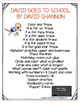 DAVID GOES TO SCHOOL BOOK UNIT