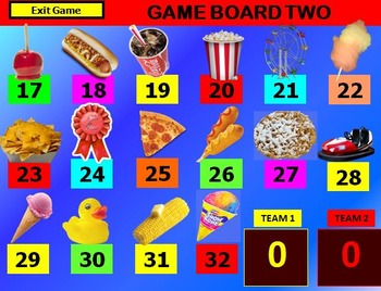 DAY AT THE FAIR Review Game Template POWERPOINT