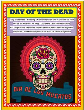 DAY OF THE DEAD BUNDLE - No Prep Reading & Interactive Notebook Activities