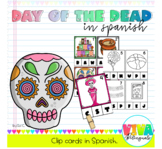 DAY OF THE DEAD Clip cards initial letters in Spanish/ Día