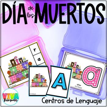 DAY OF THE DEAD Clip cards initial letters in Spanish/ Día de los muertos