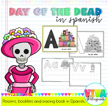 DAY OF THE DEAD_Posters, booklets and tracing book in Spanish / Día de muertos
