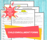 DAYCARE ENROLLMENT FORMS/ Childcare Center Printable Daycare Contract / Perfect