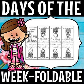 DAYS OF THE WEEK 8 page foldable booklet