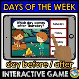 DAYS OF THE WEEK ACTIVITIES CAMPING THEME (DAYS OF THE WEE