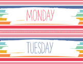 DAYS OF THE WEEK CARDS