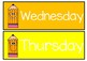 DAYS OF THE WEEK Crazy Pencil Themed