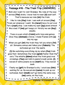 DAZE 1st GRADE Practice Passages #16-20 Dibels (1st-2nd)