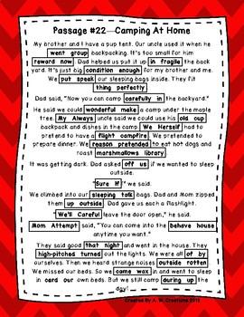 DAZE 1st GRADE Practice Passages #21-25 Dibels (1st-2nd)
