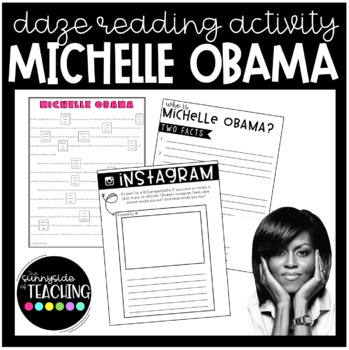DAZE Or MAZE Practice With Comprehension Resources Michelle Obama