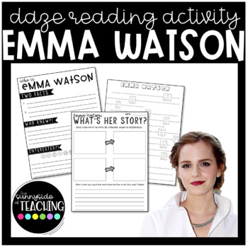 DAZE Or MAZE Practice With Comprehension Resources Emma Watson