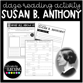 DAZE Or MAZE Practice With Comprehension Resources Susan B Anthony