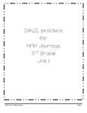 DAZE practice for HMH Grade 3 Unit 1