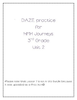 DAZE practice for HMH Grade 3 Unit 2