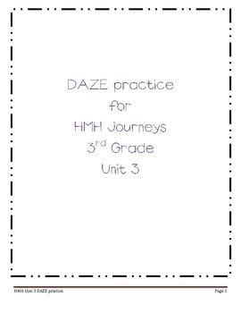 DAZE practice for HMH Grade 3 Unit 3