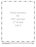 DAZE practice for HMH Grade 3 Unit 3