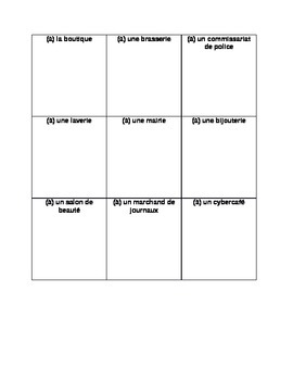 works w/ D'Accord 2 Unit 4 : vocabulary introduction handouts