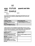 works w/ D'Accord 2 Unit 5 : the futur simple with QUAND and DES QUE
