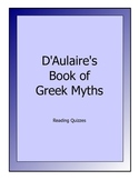 D'Aulaire's Book of Greek Myths - reading quizzes