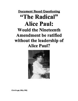 DBQ: Alice Paul and the Nineteenth Amendment