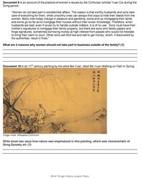 DBQ: Ancient China, Tang Dynasty and Song Dynasty