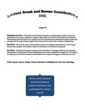 DBQ - Ancient Greek and Roman Contributions