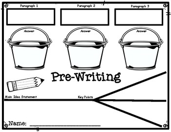 DBQ Bucketing and Chicken Foot Pre-Writing Reference Sheet