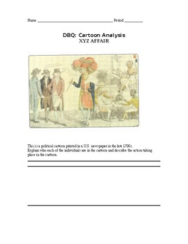 DBQ: Cartoon Analysis XYZ AFFAIR