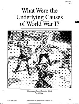 DBQ: Causes of WWI