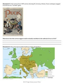 DBQ: Causes of World War One - Common Core