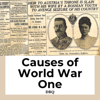 Causes of World War 1 DBQ