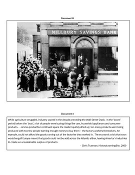 DBQ:  Causes of the Great Depression